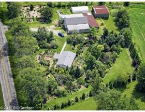 English Garden Farm aerial view